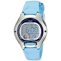 Reloj digital con correa de resina azul LW200-2BV de Casio para mujer
