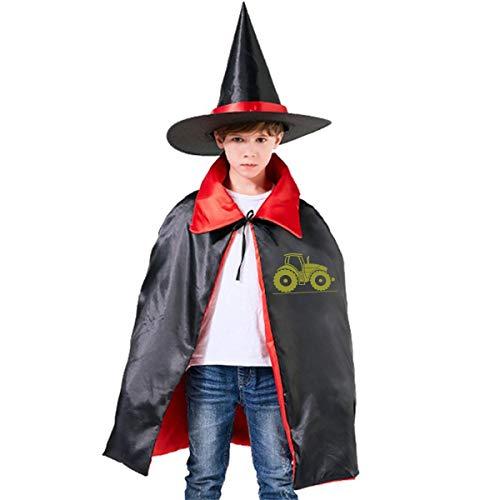 Tractor Halloween Costume Kids Wizard Witch Hat Cape Cloak Suit