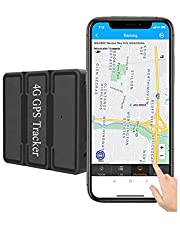 Reiwour 4G Magnetic GPS Tracker for Car Hidden no Monthly fee Real-Time Portable Vehicle Tracking Device Canada no Subscription Locator Long Life Battery for Asset Trailer Motorcycle Truck Fleet