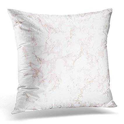 Amazoncom Jeartyca Throw Pillow Cover Trendy Pink Marble With Rose