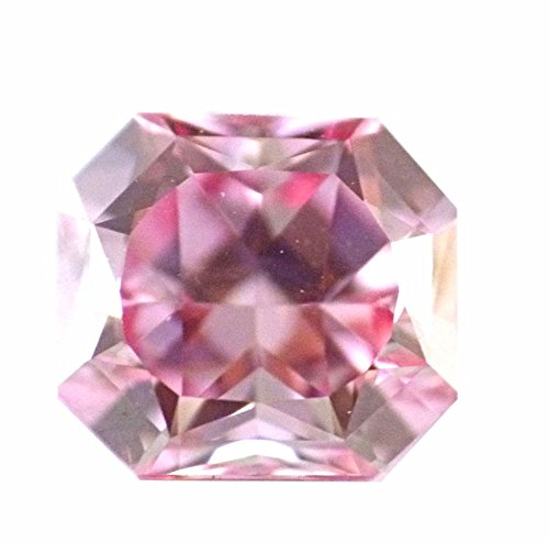 DirectDiam 0.73 ct Fancy Intense Pink Loose Natural Diamond VS2 Radiant Shape GIA Certified HPHT