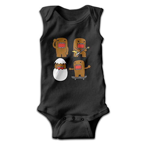 Sleeveless Baby Bodysuit Comic Infantile Domo Suit 46 Gift Black]()