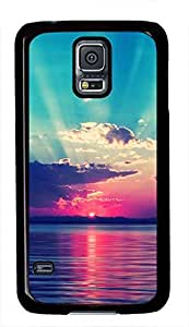 Colorful Sunset Glow Beach View Theme Samsung Galaxy S5 i9600 Case hjbrhga1544