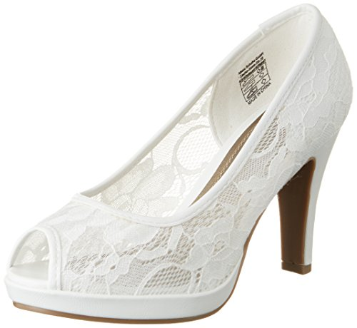 Jane Klain Women's 293 173 Closed Toe Heels White (White) 8AH5fo0