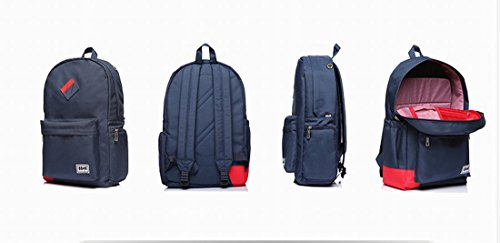 8848shoes Rucksack Klapp-Rucksack Schultasche Laptop-Tasche Outdoor Rucksack Paar Fashion Freizeit Paket Casual Daypacks, blau with red