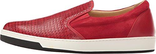 Bugatchi Mens Cinque Terre Fashion Sneaker Rosso
