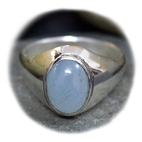 55Carat Aquamarine Silver Ring For Men 4 Carat Oval Shape Chakra Healing Size 4,5,6,7,8,9,10,11,12,13