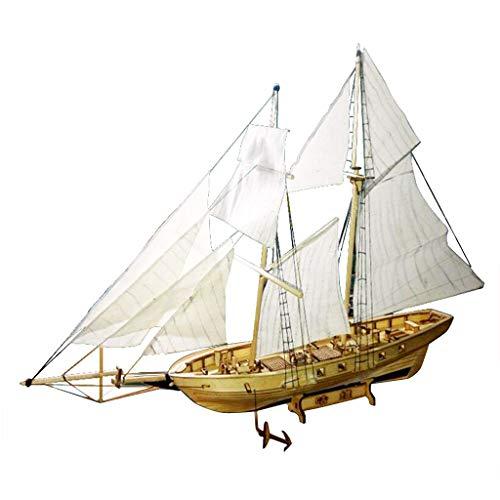 Homyl Modelo Velero Barco Vela de Madera Juguete Kits para DIY Bricolaje Montar Ensamblar - Harvey Ship