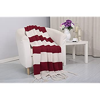 Amazon Com Vintage Knitted Throw Couch Cover Sofa Blanket