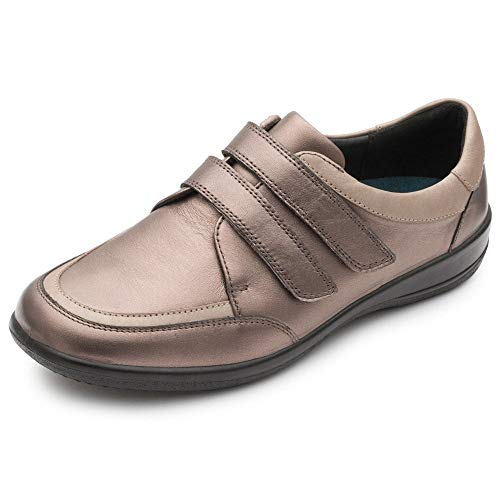 Correa Mujeres Las Bronze Padders De Zapatos Doble Caitlin n1TxEZ