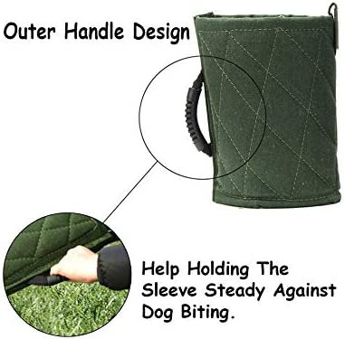 Fits Both Sleeves Green Small Dogs Training Biting Tugging Toy Dog Bite Sleeve Training Protection