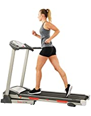 Sunny Health & Fitness Exercise Treadmills, Motorized Running Machine for Home with Folding, Easy Assembly, Sturdy, Portable and Space Saving - SF-T7603, Grey
