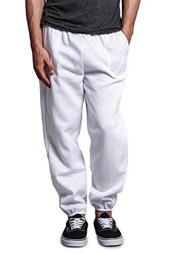 Victorious Men's Elastic Cuff Fleece Sweatpants - HILLSP - WHT - 5X-Large (Men Aero Sweatpants)
