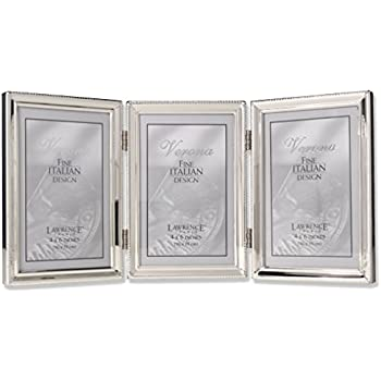 """La Vie Silverplated Photo Frame 3"""" X 2.5"""" Roses Hand Polished /& Laquer Coated"""