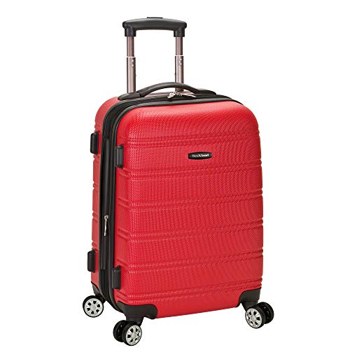 Rockland Luggage Melbourne 20 Inch Expandable Abs Carry On Luggage, Red, One Size