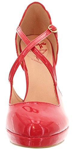 Dancing Rosso Days Donna Col Tacco Scarpe PgBdWqzrXB