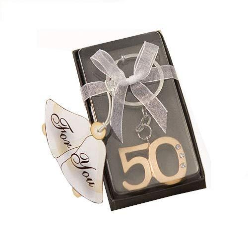 100 50Th Anniversary Key Ring Favors