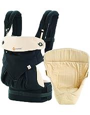 Ergobaby 360 Bundle of Joy with Easy Snug Infant Insert, Black/Camel