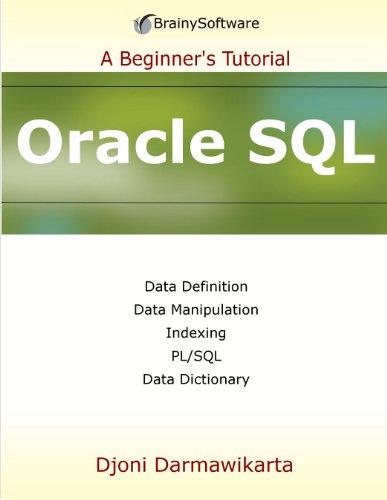 Oracle SQL: A Beginner's Tutorial Pdf
