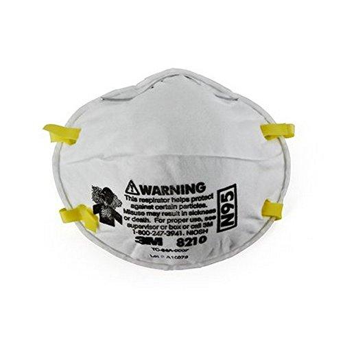 3M 50051138464573 8210 N95 Particulate Respirators, 20/Dispenser (Pack of 20)