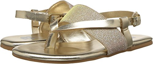 Gold Nappa Footwear - Amiana Baby Girl's 12-1012 (Toddler/Little Kid/Big Kid/Adult) Gold Nappa Pu 34 M EU