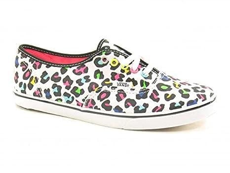 eec31b13b6 Vans Authentic Lo Pro (Neon Leopard) True White Womens Footwear Traine   Amazon.co.uk  Clothing