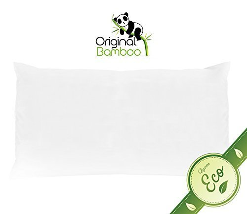 Luxurious Queen Size Polyester Microfiber Pillow - Handmade in USA - Hypoallergenic Bed Pillow - 100% Cotton Pillowcase Filled With Freshly Treated Polyester Fibers - Machine Washable Queen Pillow