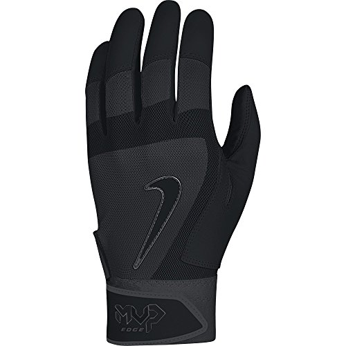 Nike MVP Edge Baseball Batting Glove Black Size Large MVP EDGE