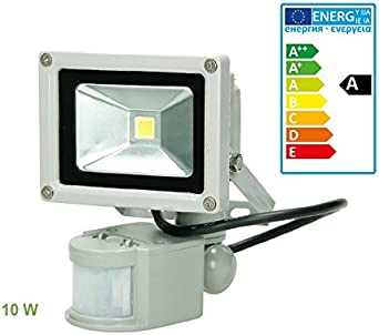 ECD Germany Foco reflector con sensor de movimiento LED 10W ...