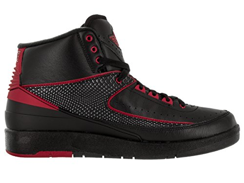 Nike Jordan Mens Air Jordan 2 Retro Black/Varsity Red Basketball Shoe 12 Men US RA0PYF