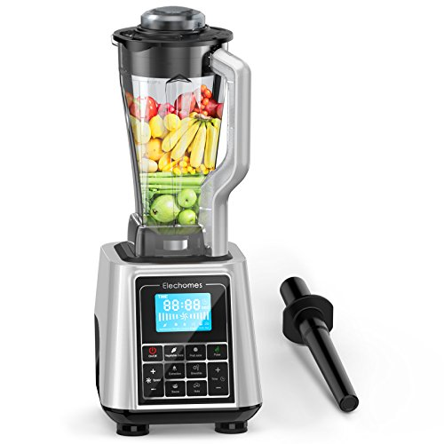 1600W Commercial Countertop Blender - Elechomes High-Speed Blender/Mixer System with LED Touch Control Smoothie Blender, Processor for Soup, Mincemeat, 30,000RPM