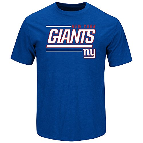 (Majestic New York Giants Line of Scrimmage Blue T-Shirt X-Large)