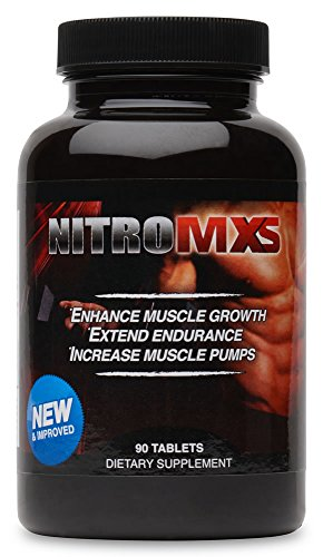 Nitro MXS - 90 Tablets - Enhance Muscle Growth, Extend Endurance, Increase Muscle Pumps (Nitro MXS) by Nitro MXS