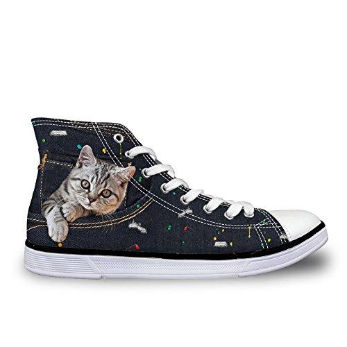 Coloranimal 8 donna cat cute A Alto Collo rwfxRrqH
