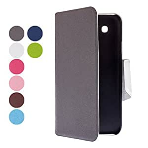 JOE Color Matching PU Leather Case with Stand and Card Slot for Samsung Galaxy Mega 5.8 I9150 (Assorted Colors) , Navy