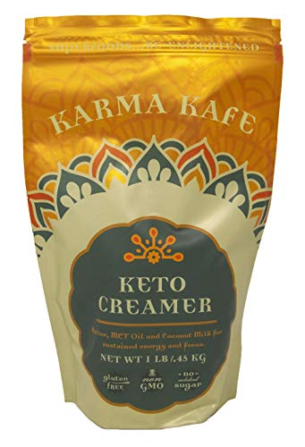 Karma Kafe Keto Creamer with MCT oil, Coconut Milk, Butter, High Fat BPC Coffee Creamer Superfood - 1 Pound Resealable - Creamer Cafe