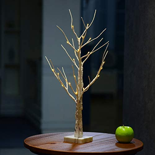 MOIAK Birch Twig Tree Battery Operated Durable Decoration Warm White Branches Indoor