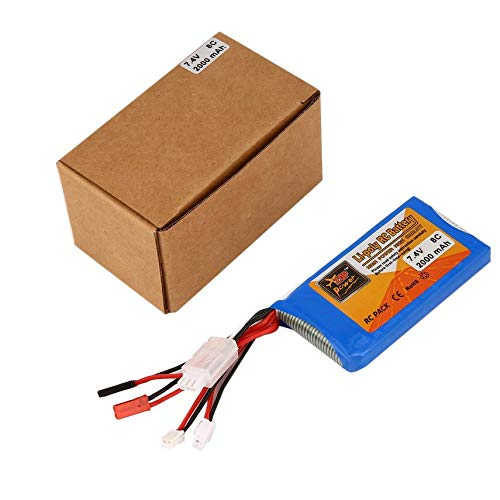 X7 Rechargeable Li-Poly Remote Control Battery 7.4V 2000mAh 8C Upgrade RC Battery for Transmitter Toys Accessories