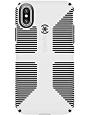 Speck Products CandyShell Grip Cell Phone Case for iPhone XS/iPhone X, White/Black