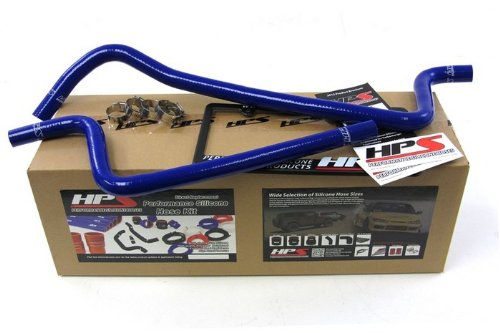 HPS (57-1221H-BLUE) Silicone Heater Hose Kit for Jeep Wrangler TJ