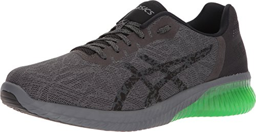 ASICS Gel-Kenun Men's Running Shoe, Dark Grey/Black/Green, 11.5 M US