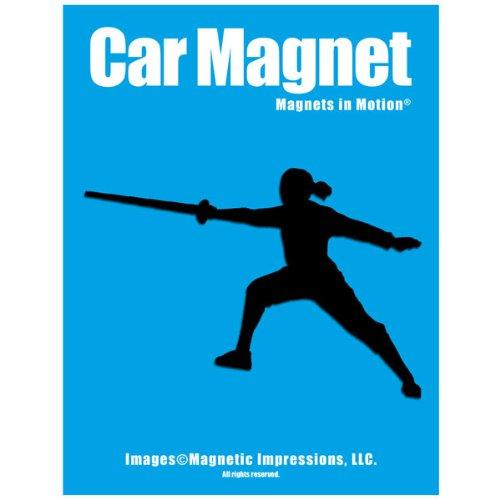 Fencer Female Car Magnet Black