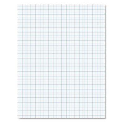 (Ampad 22000 Quadrille Pads, 4 Squares/Inch, 8 1/2 x 11, White, 50)