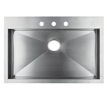 33 u0026quot  x 22 u0026quot  single bowl kitchen sink 33   x 22   single bowl kitchen sink     amazon com  rh   amazon com