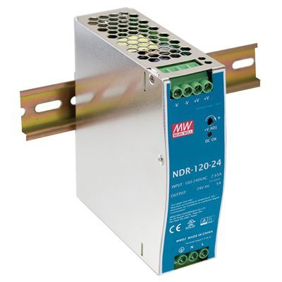 Single Output Industrial DIN Rail Power Supply 12 Volts 10 Amps 120 - Range Mechanical Convection