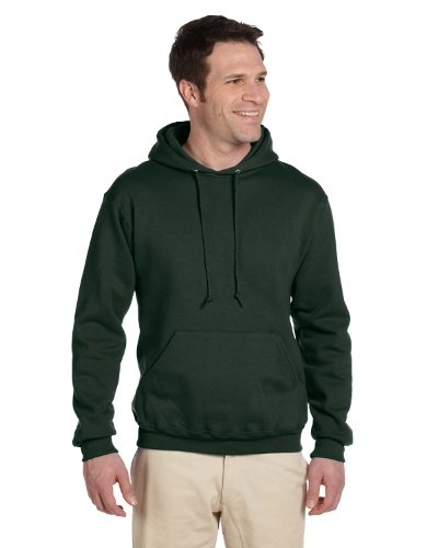 JERZEES SUPER SWEATS - Pullover Hooded Sweatshirt. 4997M - Forest Green_L - Jerzees 4997 Hoodie Sweatshirt