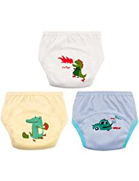 Unisex Baby Training Underwear 6 Layers Pure Cotton Diaper Pants Pack Of 3