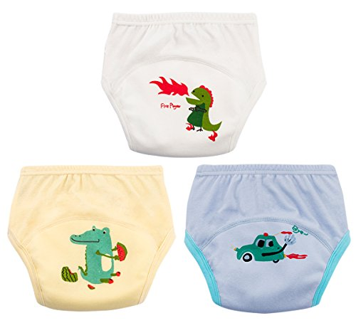 Toliet Pee Potty Training Pants 3 Pcs Baby Girl Boy Nappy Underwear 6  Layers Cotton Breathable 0c06c22ff0a
