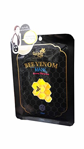 3 Mask Sheets of Water Angel Bee Venom Mask, Working on wrinkles and firming loose skin. (25 ml/ sheet.)..