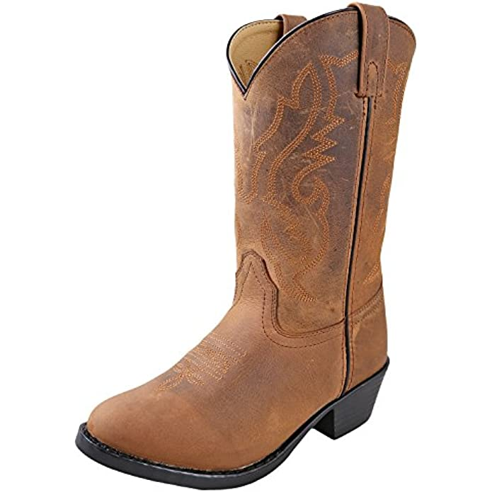 Smoky Mountain Boots | Denver Series | Youth Western Boot | Western Toe Leather | PVC Sole & Western Heel | Leather Upper & Man-Made Lining